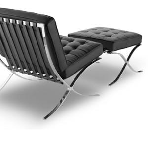 Πολυθρόνα με υποπόδιο σε λευκό και μαύρο χρώμα   Από 902€
