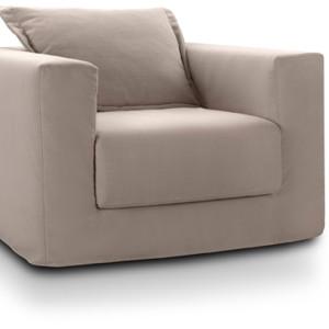 Πολυθρόνα 90x90εκ. με ύφασμα