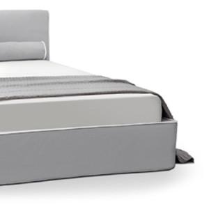 Κρεβάτι 173x222x92εκ.  με αποσπώμενο ύφασμα για στρώμα διαστάσεων 160x200εκ. και με δυνατότητα αποθηκευτικού χώρου.  Το στρώμα υποστηρίζεται από σανίδες ή από ανατομικές λάτες.