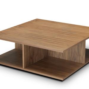 Τραπέζι σαλονιού 100x100x35εκ. σε δρυ, καρυδιά ή λάκα