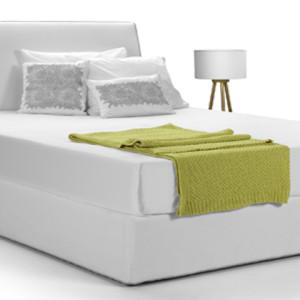 Κρεβάτι 215x160x105εκ.   με αποσπώμενο ύφασμα για στρώμα διαστάσεων 160x200εκ.  Το στρώμα υποστηρίζεται από σανίδες.